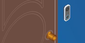 Close up of isometric digital doorbell