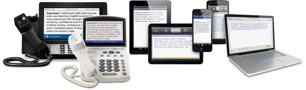 CapTel Phones, Smartphones, Tablets, and PC/Mac Computers