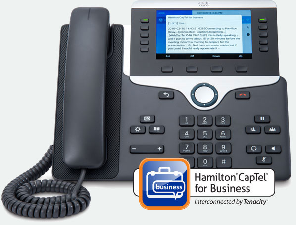 Hamilton CapTel for Business Interconnected by Tenacity